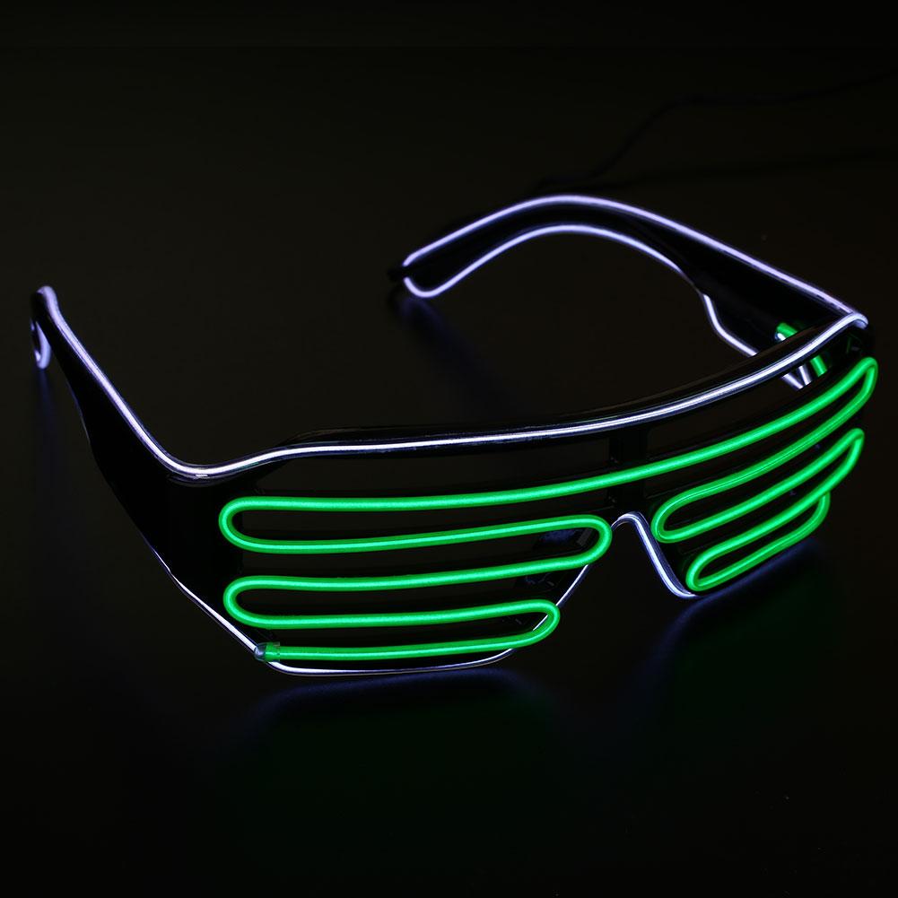 Neon El Wire LED Light Double Shutter Glasses Funny Rave ...