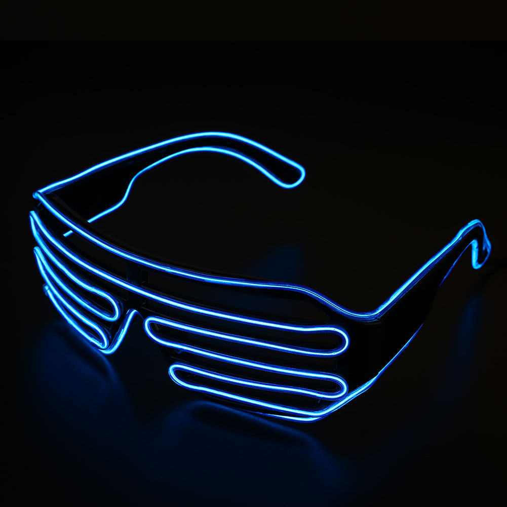 Neon El Wire LED Light Shutter Glasses Funny Glow Glowing ...