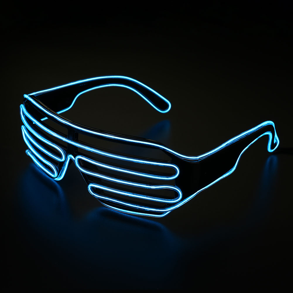 Neon El Wire LED Light Shutter Glasses Funny Glow Glowing ...