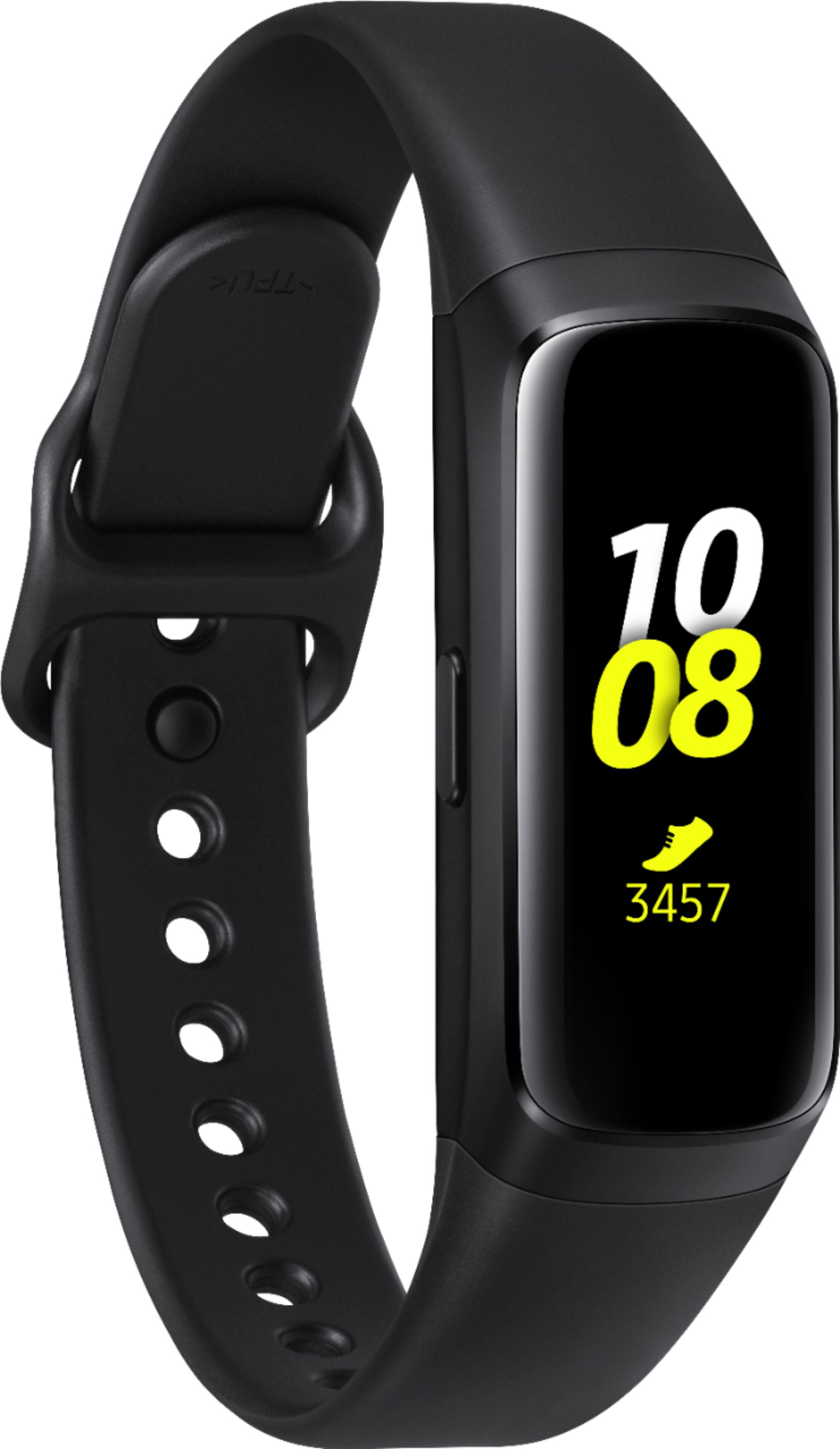 Samsung - Galaxy Fit Activity Tracker + Heart Rate - Black