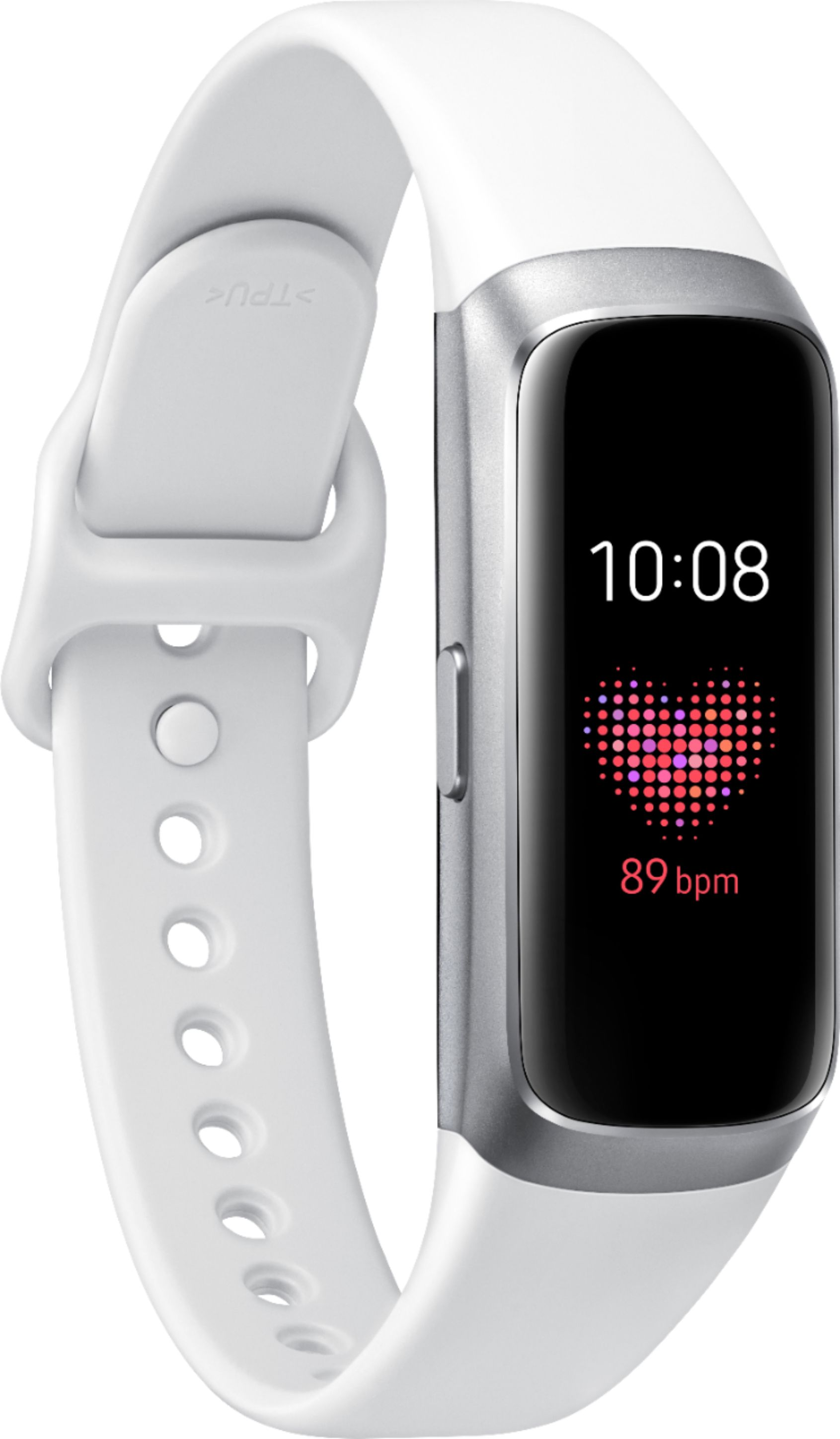Samsung - Galaxy Fit Activity Tracker + Heart Rate - White