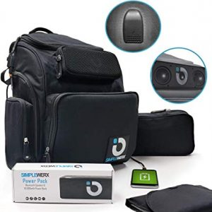 Diaper Bag Backpack with Built-In Power Bank and Speaker 12