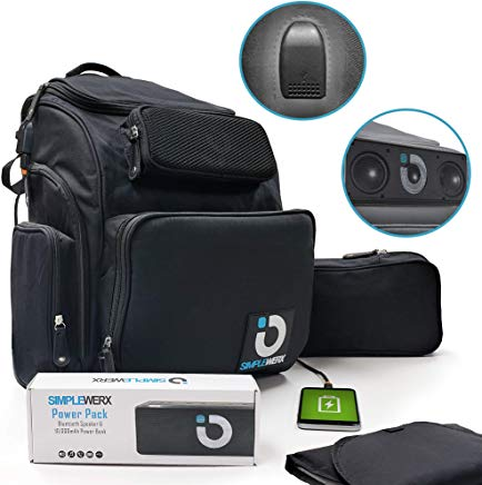 Diaper Bag Backpack with Built-In Power Bank and Speaker 2