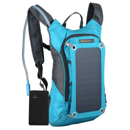 Solar Powered 1.8 Liter Hydration Backpack with Battery Pack 2