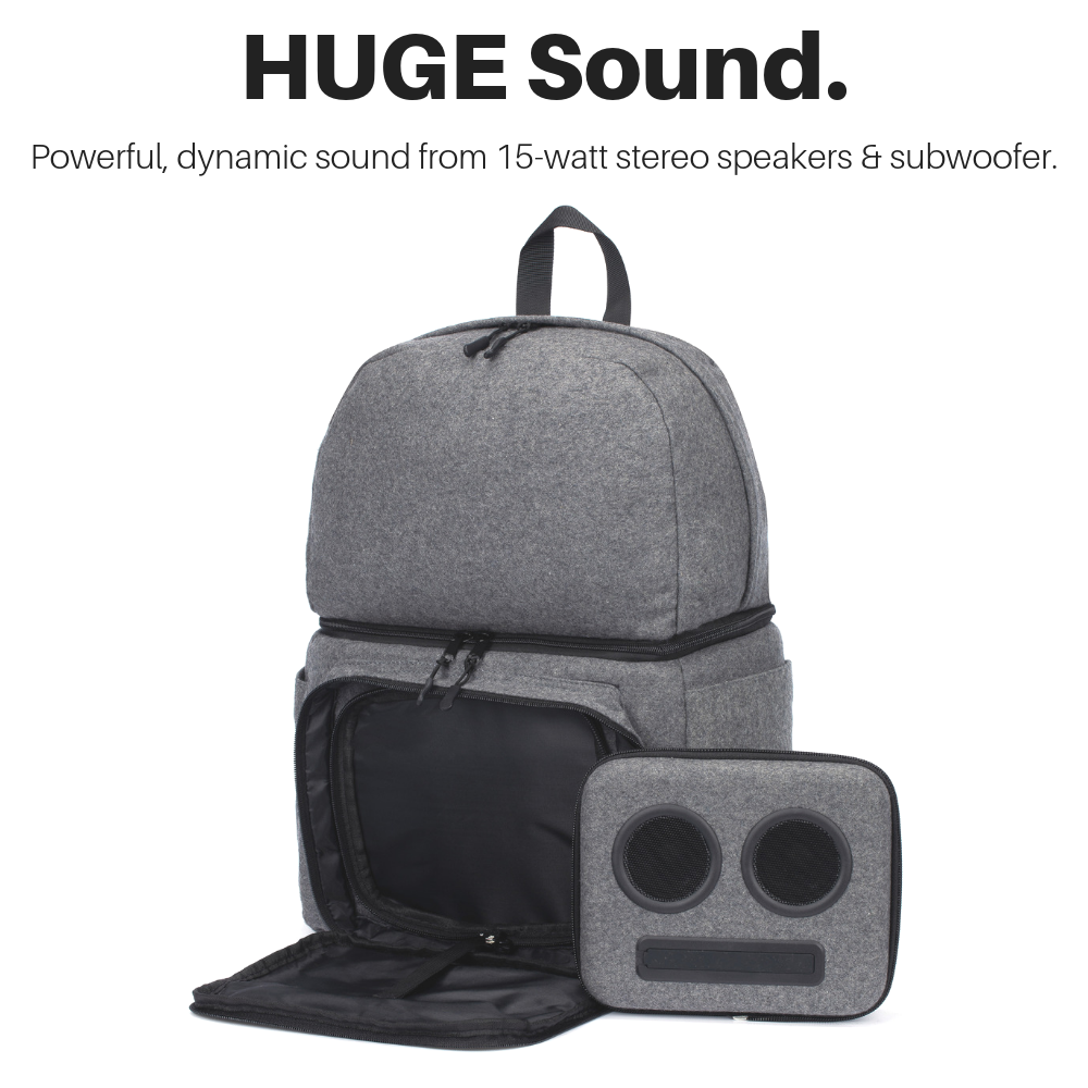 Backpack Cooler with 20-Watt Bluetooth Speakers & Subwoofer