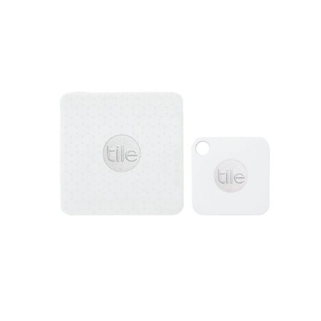 Tile Mate + Tile Slim Combo - Key Finder. Phone Finder. Anything Finder - 4 Pack (2 Tile Mate + 2 Tile Slim), White