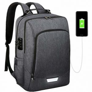 Backpack with Built-In Zipper Lock 1