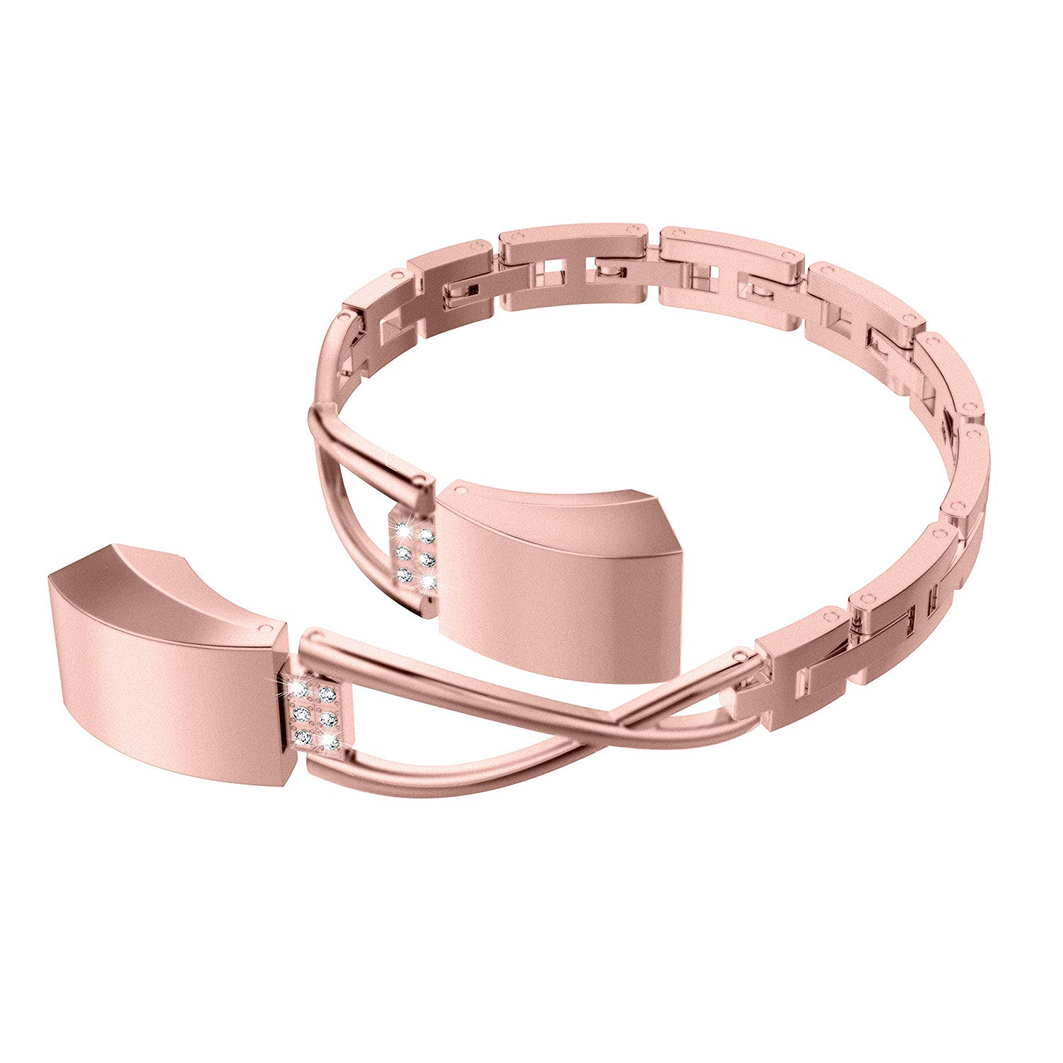 Wearlizer Compatible Fitbit Alta Bands Small Silver Rose ...