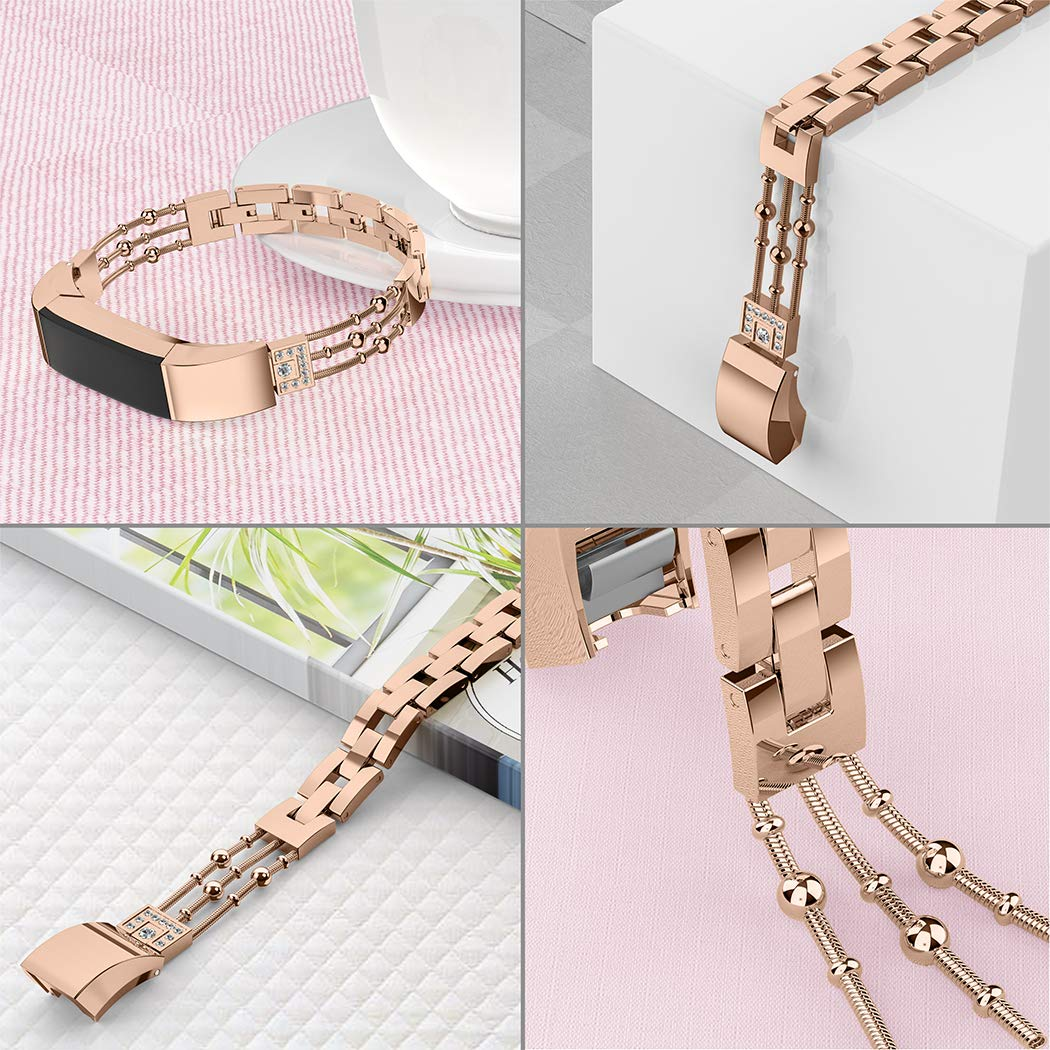 Wearlizer Compatible Metal Fitbit Alta Bands for Women ...