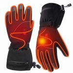 Leather Tipped Heated Gloves 8