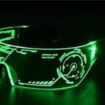 Cyberpunk LED Tron Visor Glasses 3
