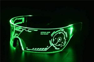 Cyberpunk LED Tron Visor Glasses 16
