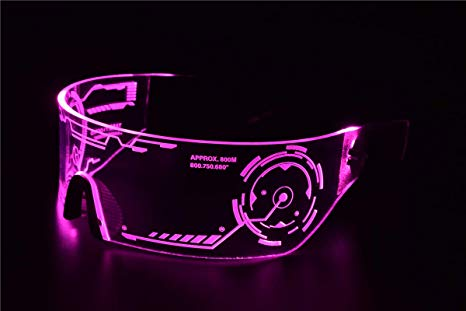 Cyberpunk LED Tron Visor Glasses