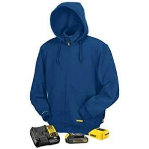 Blue Heated Hoodie Sweatshirt 8
