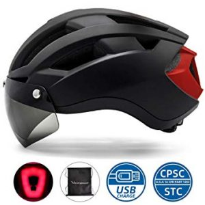 Bike Helmet with USB Rechargeable Rear Light 10