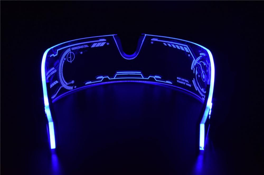 Cyberpunk LED Tron Visor Glasses Perfect For Cosplay and ...
