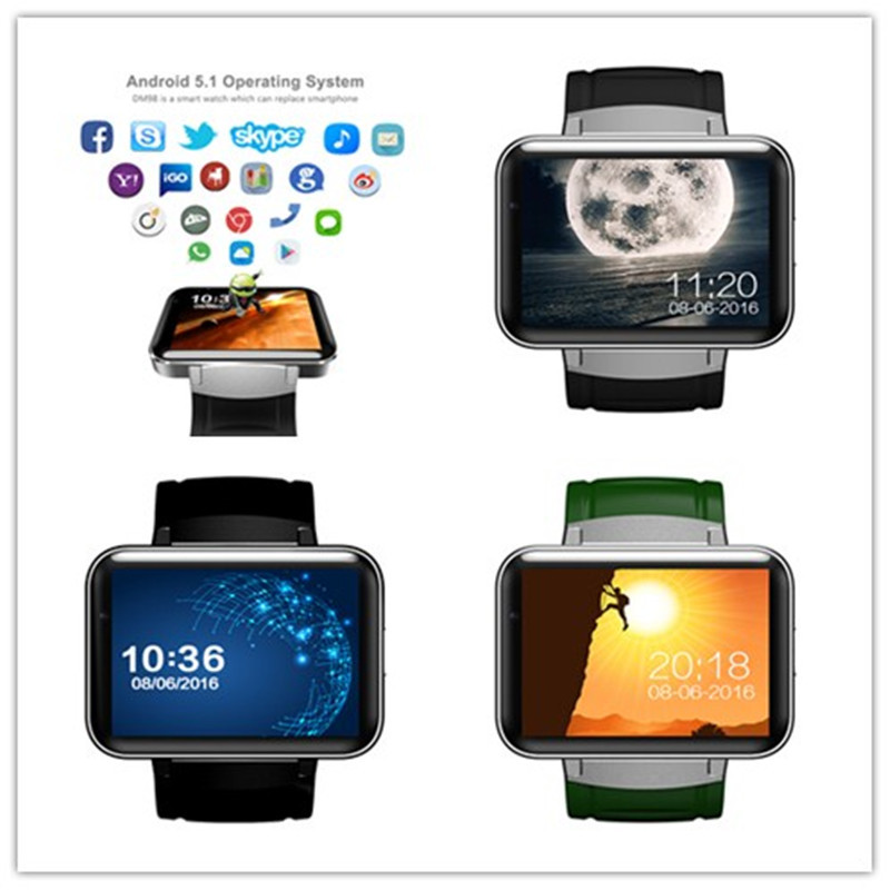DM98 Bluetooth Smart Watch 2.2 inch 3G Smartwatch Phone ...