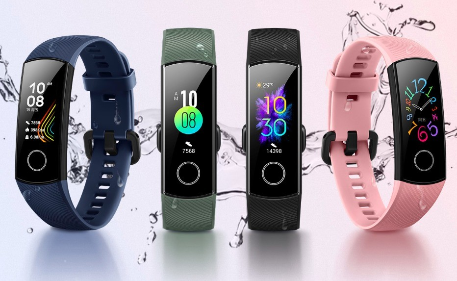 Honor Band 5 fitness tracker with blood oxygen level ...