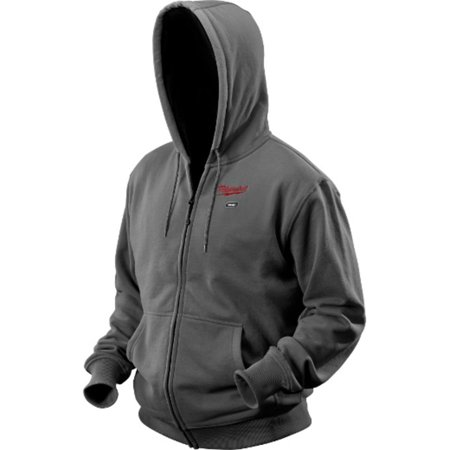 Milwaukee M12 Gray Heated Hoodie Only (No Battery)