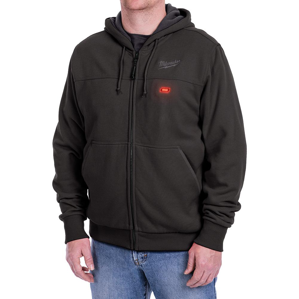 Mens Black M12 Heated Hoodie
