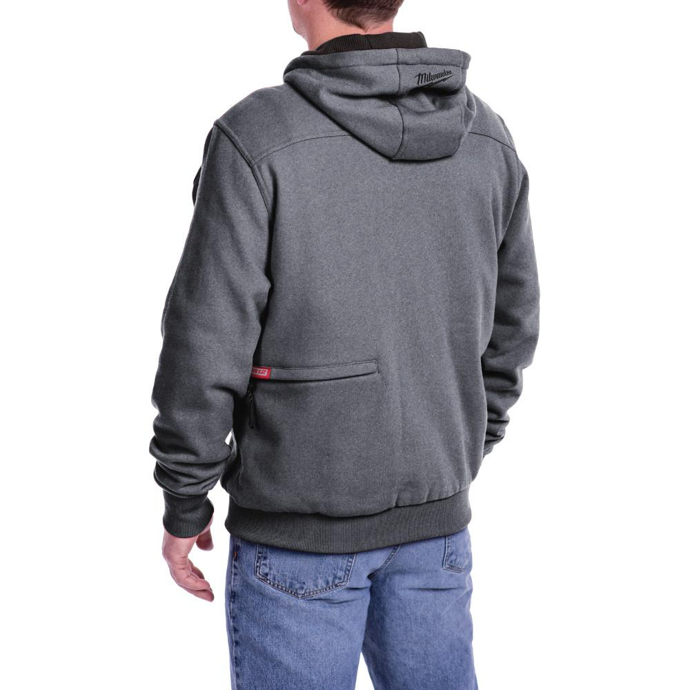 Milwaukee Men's M12 12V Li-Ion Cordless Gray Heated Hoodie ...