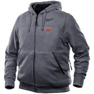 Mens Gray M12 Heated Hoodie 4