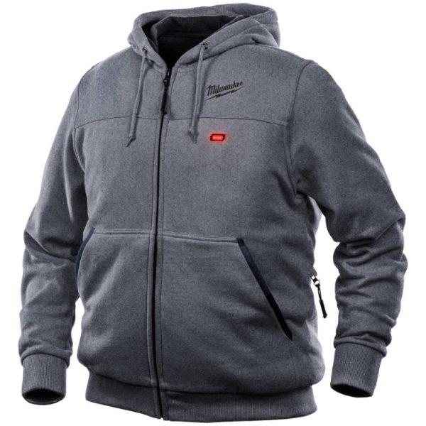 Mens Gray M12 Heated Hoodie 5