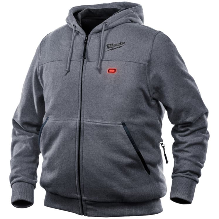 Mens Gray M12 Heated Hoodie 1
