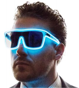 Tinted Single Lens Tron Style Light Up Glasses 15