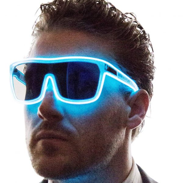 Tinted Single Lens Tron Style Light Up Glasses 3