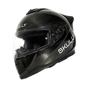 Skully Technologies Fenix AR Carbon Fiber Motorcycle Helmet Size Medium