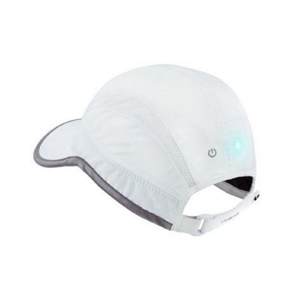 Smart Hat that measures Heart Rate White at NorthernRunner.com