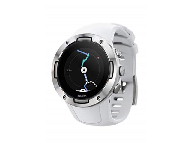 suunto 5 multisport gps watch with wristbased heart rate sensor white