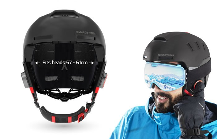 Swagtron Snowtide Smart Helmet: Keep in Touch with your ...