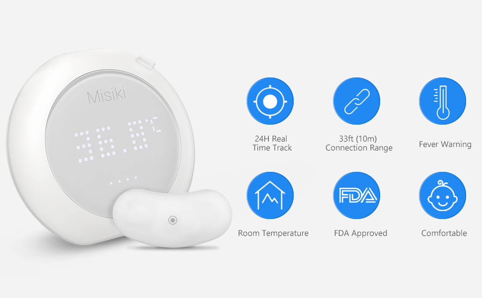Misiki Wearable Underarm Thermometer