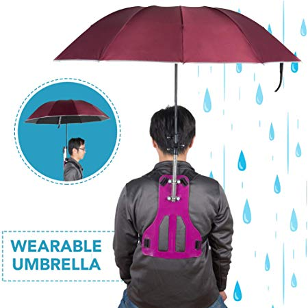 Primo Supply Wearable Hands-Free Umbrella