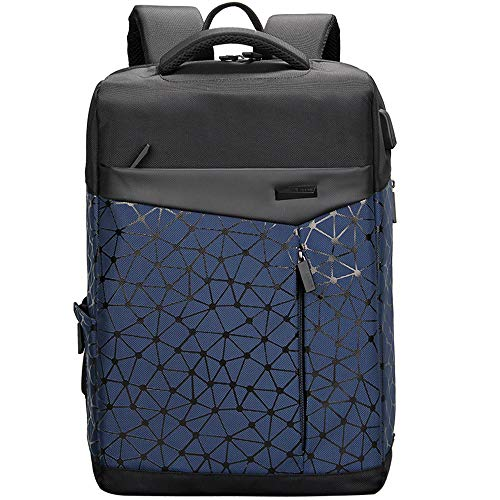 Aoking College 15.6 Laptop USB Backpack - Navy