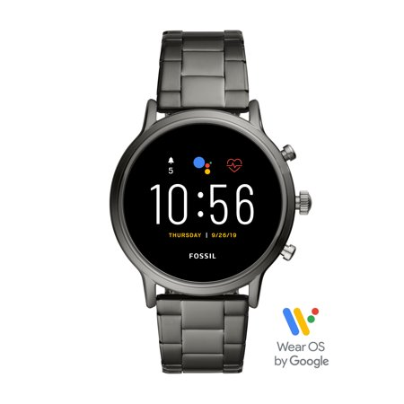 Fossil Gen 5 Carlyle HR Men's Smartwatch - Smoke Stainless Steel - Powered with Wear OS by Google