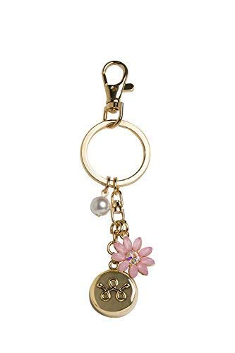 invisawear Smart Jewelry - Personal Safety Device - Gold Flower Keychain