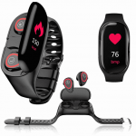 Fitness Tracker with Built In Earbuds 9