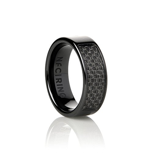 NFC Ring Unisex Ceramic Programmable Smart Ring Eclipse