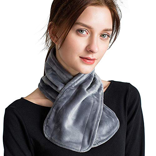 PerfectPrime HP0210GR Electric Heated Neck Scarf/Gaiter/Wrap, Grey Scarf