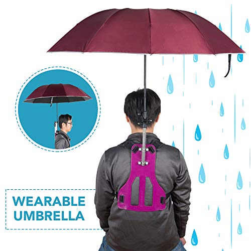 Wearable Hands-Free Umbrella - RED