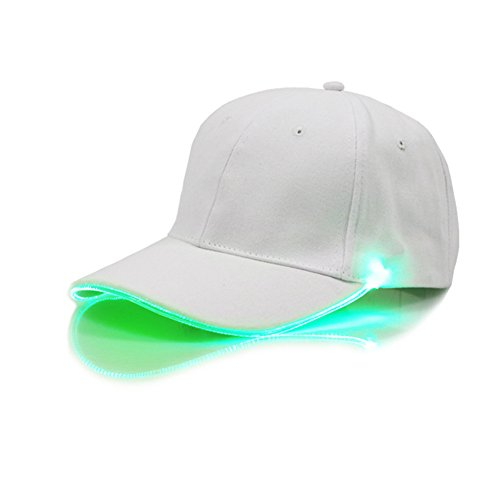 ShiningLove Glow in The Dark LED Unisex Baseball Cap Flashlight Hat for Camping Running Jogging Hunting Outdoor Activities Green