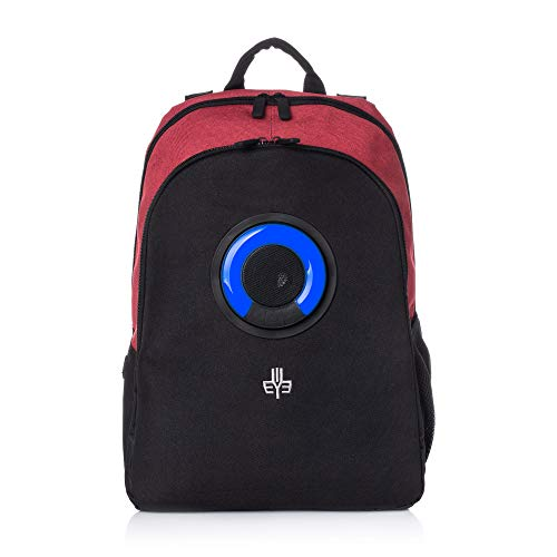 WOWmazing Backpack with Detachable Bluetooth Speaker (Red)