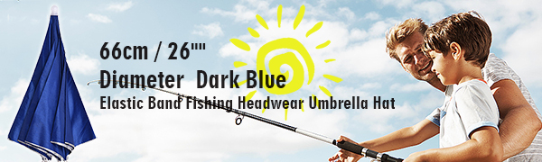 "Chinmor 26"" Diameter Elastic Band Fishing Headwear"