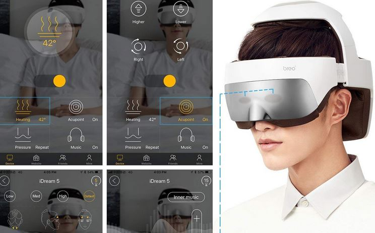 Breo iDream5 Electric Head & Eye Massager with App Control