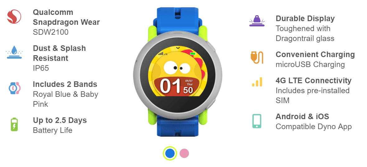 Coolpad Dyno smartwatch for kids now available for $150