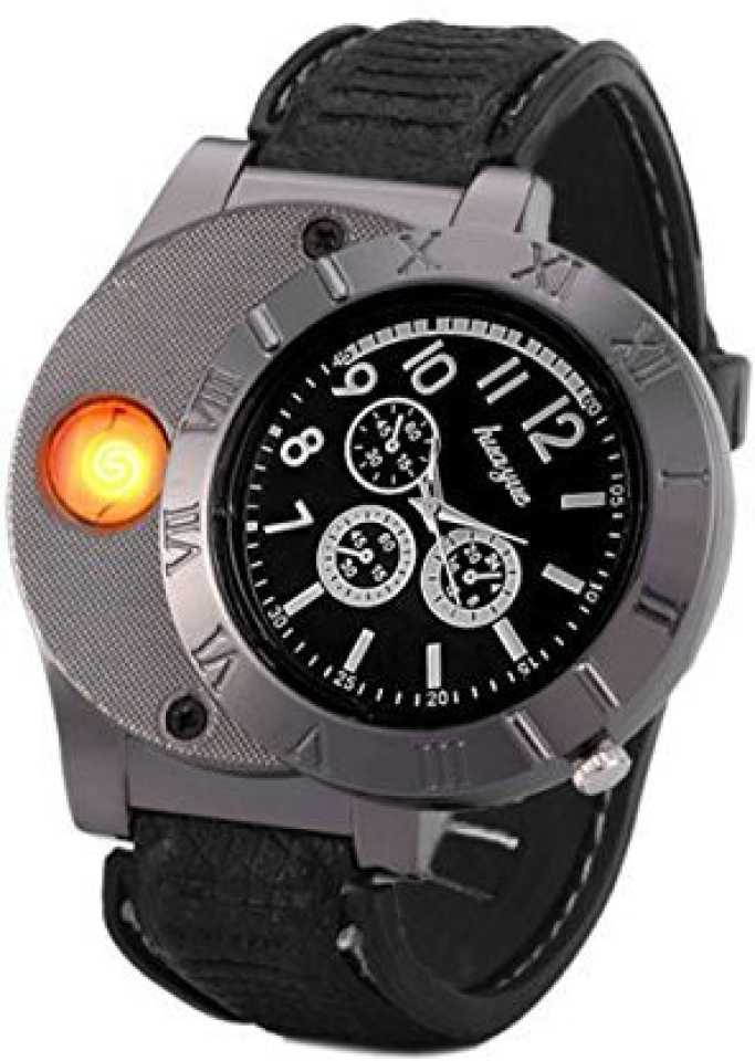 Findtime Men Digital USB Cigarette Lighter Watch