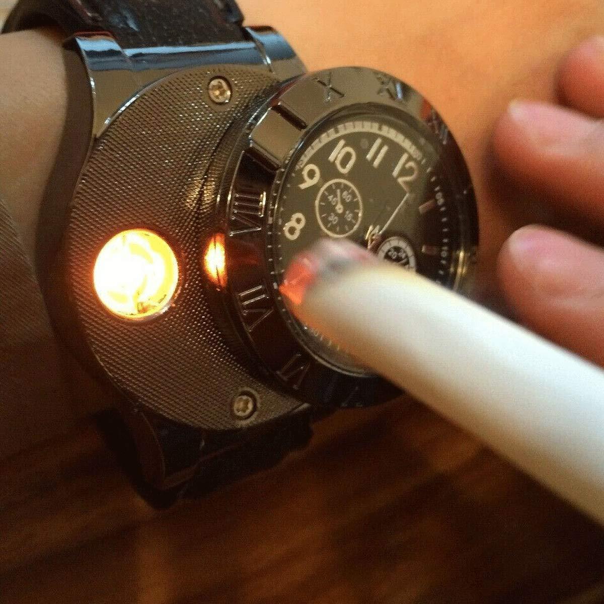 Findtime Men Digital USB Cigarette Lighter Watch Novelty ...